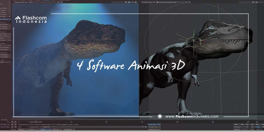 4 Software Animasi 3D yang Paling Sering Digunakan Animator