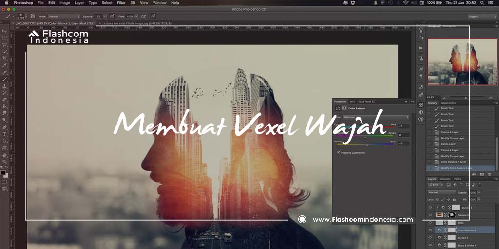 Mudah! Ternyata Begini Cara Membuat Vexel Wajah Dengan Photoshop untuk Pemula
