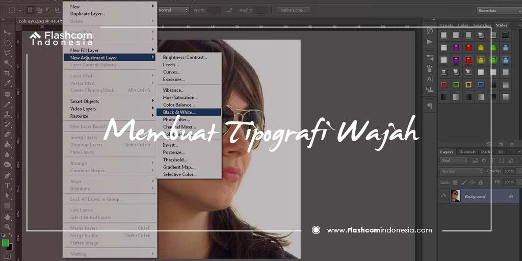 Membuat Tipografi Wajah