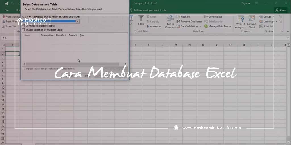 Cara Membuat Database Excel Sederhana dengan Tabel