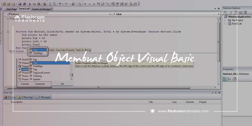 6 Cara Mudah Membuat Object Visual Basic dengan Form Login