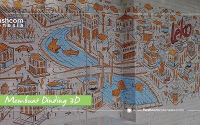 Sangat Memukau ! Ini Dia Cara Membuat Dinding 3D Trick Art Lebih Keren