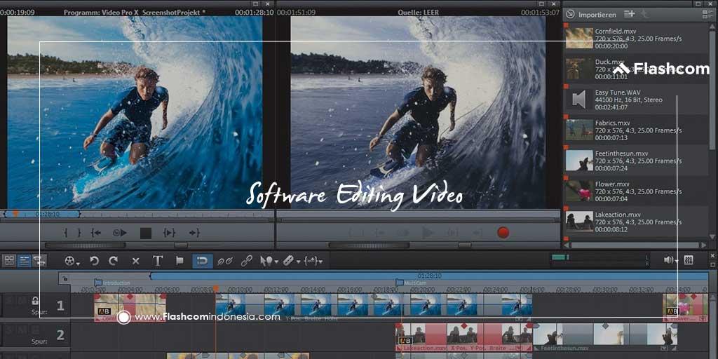 Software editing video paling sering digunakan editor profesional wajib anda kuasai
