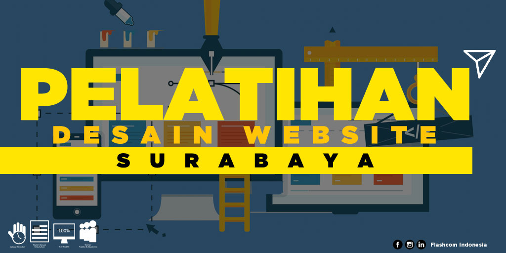Flashcom Indonesia selenggarakan Pelatihan Desain Website Surabaya dengan menghadirkan para trainer senior berpengalaman dan profesional.