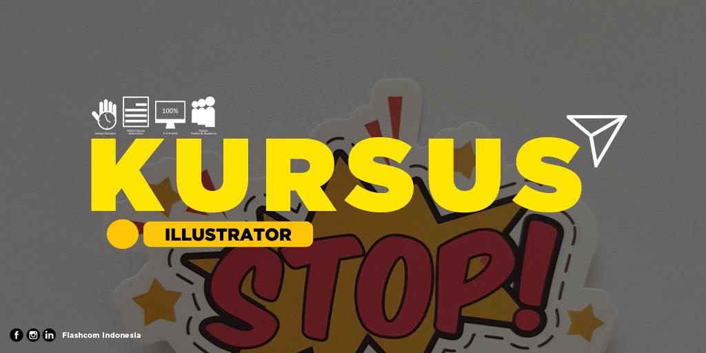 Belajar desain berbasis vektor dengan Kursus illustrator materi dasar