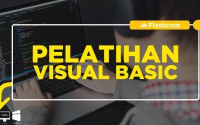 Pelatihan Visual Basic dengan mempelajari Materi dasar hingga advance di Flashcom