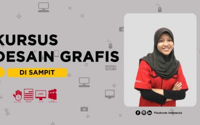 Kursus desain grafis di Sampit bersama Flashcom Indonesia full praktik menggunakan 4 software terbaik desainer